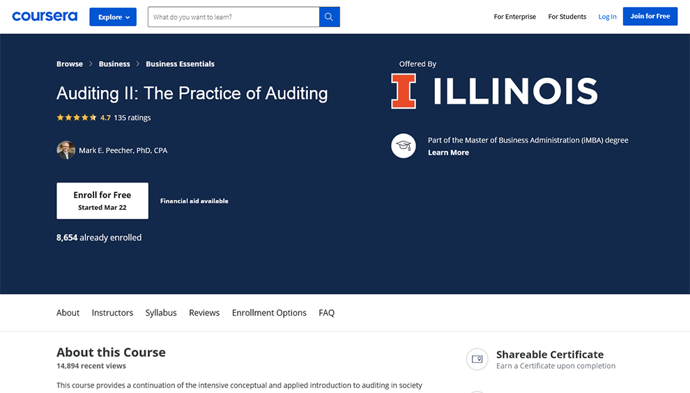 Auditing II: The Practice of Auditing