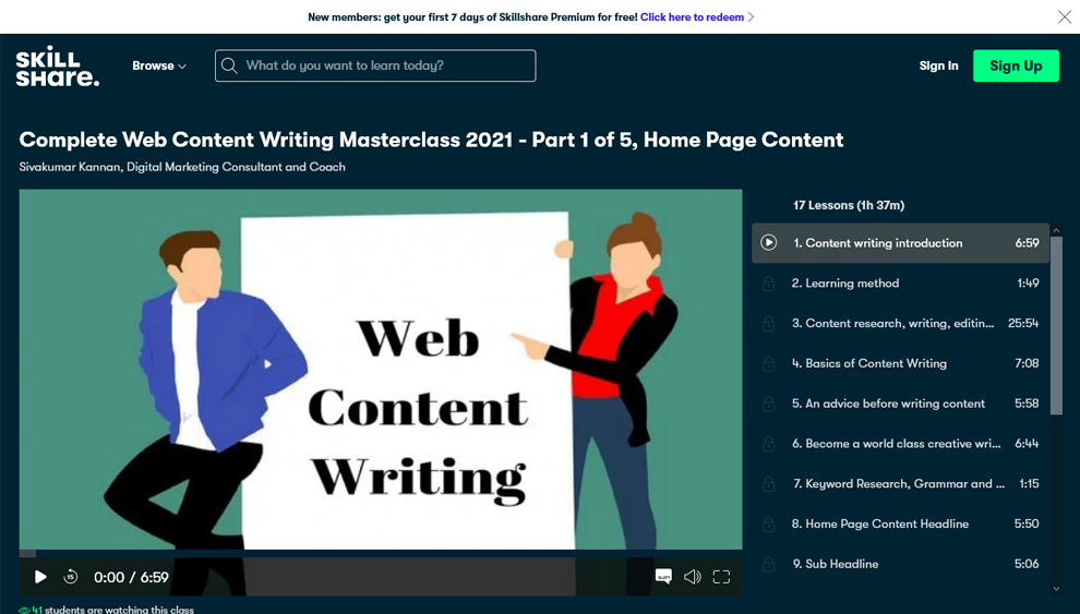 Complete Web Content Writing Masterclass 2021