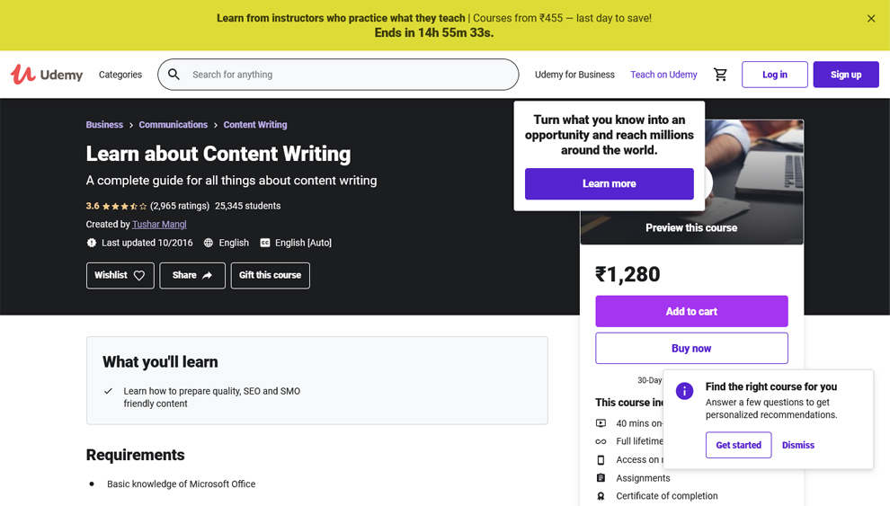 Learn About Content Writing