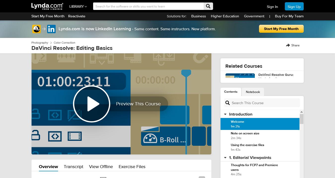 DaVinci Resolve: Editing Basics