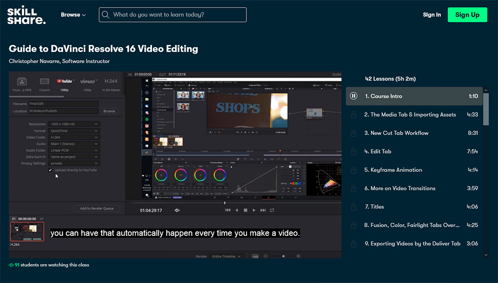 Guide to DaVinci Resolve 16 Video Editing