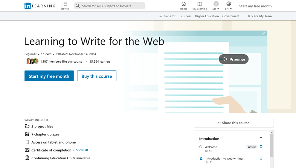Learning to Write for the Web