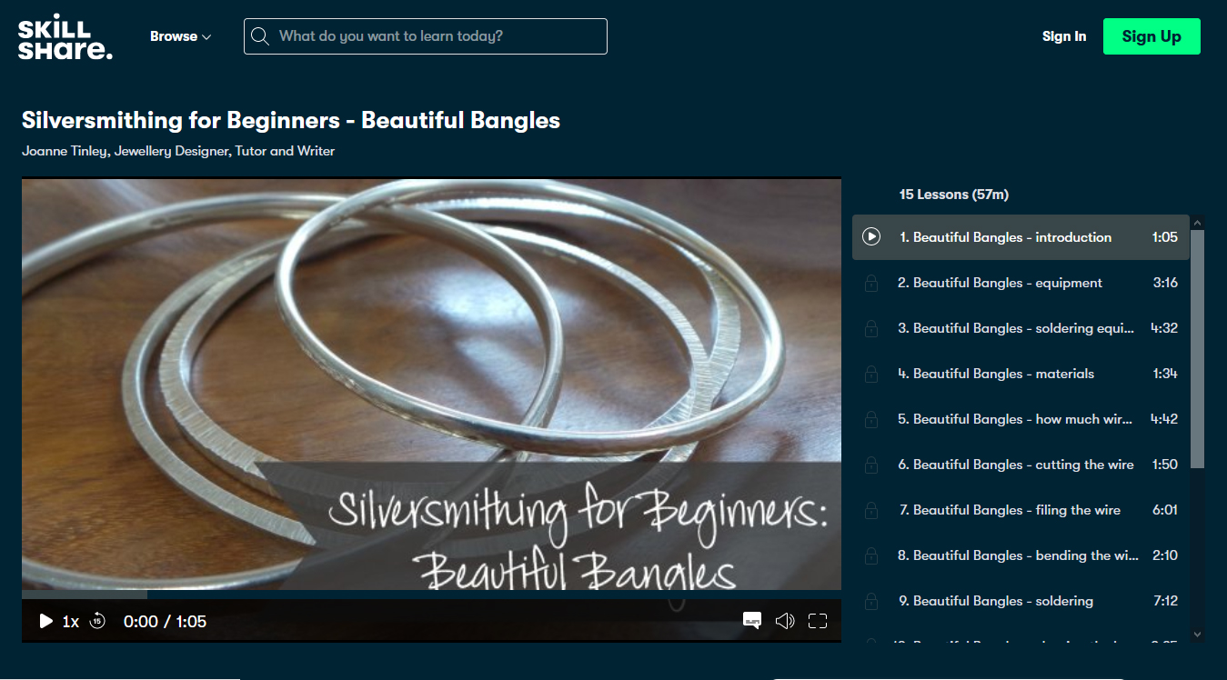 Silversmithing for Beginners