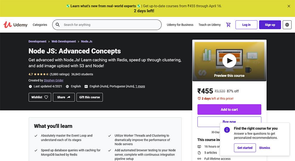 Node Js: Advanced Concepts