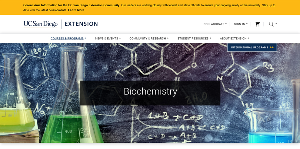Biochemistry - UC San Diego Extension
