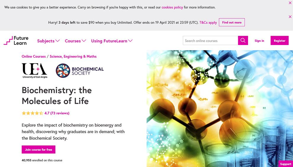 Biochemistry: the Molecules of Life