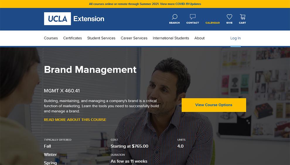 Brand Management - UCLA Extension