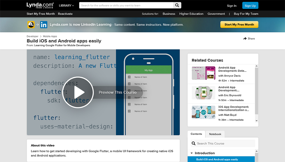 Learning Google Flutter for Mobile Developers