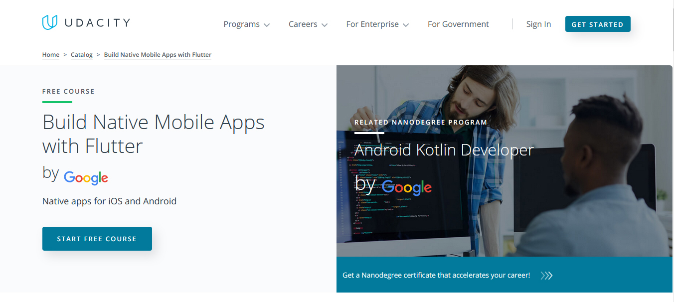 Build Native Mobile Apps with Flutter – Offered by Google
