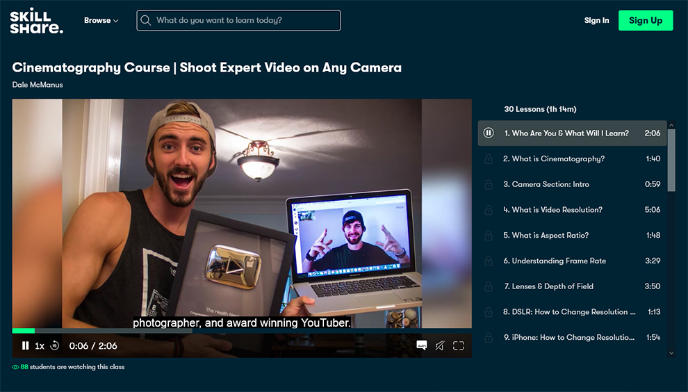 Cinematography Course|Shoot Expert Video on Any Camera
