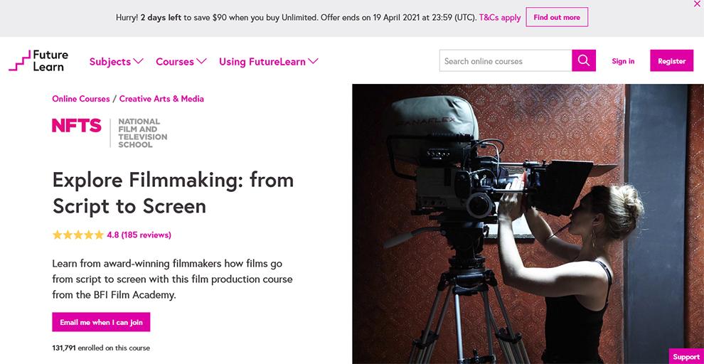 Explore Filmmaking