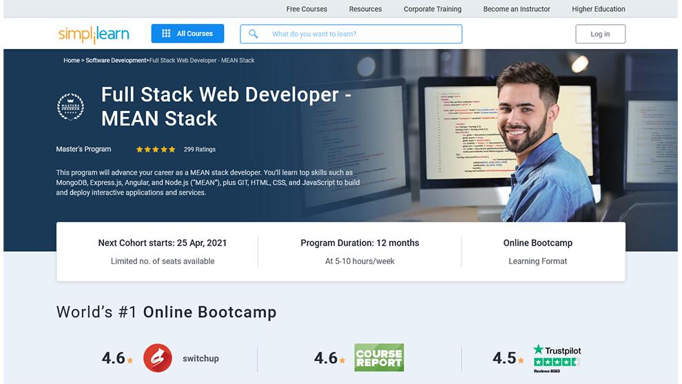 Full Stack Web Developer-MEAN Stack Master's Program