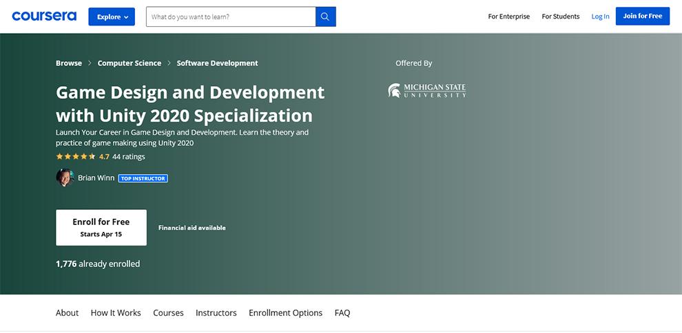 Game Design and Development Specialization