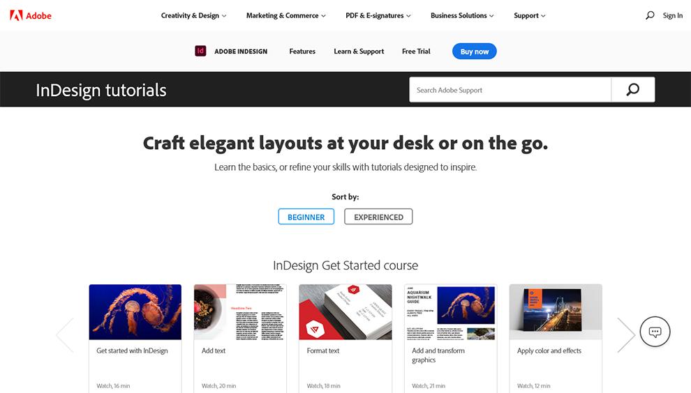 InDesign tutorials
