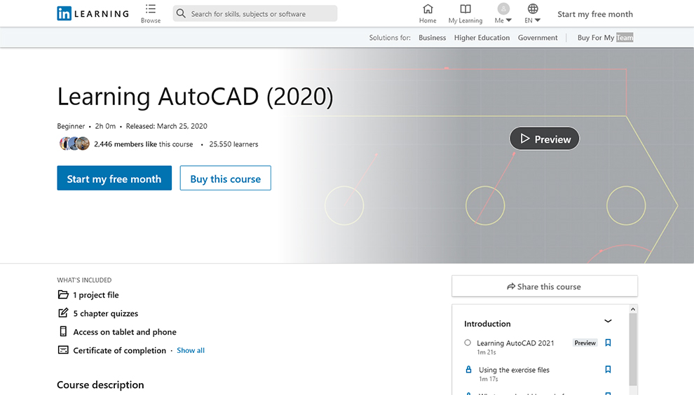 Learning AutoCAD (2020)