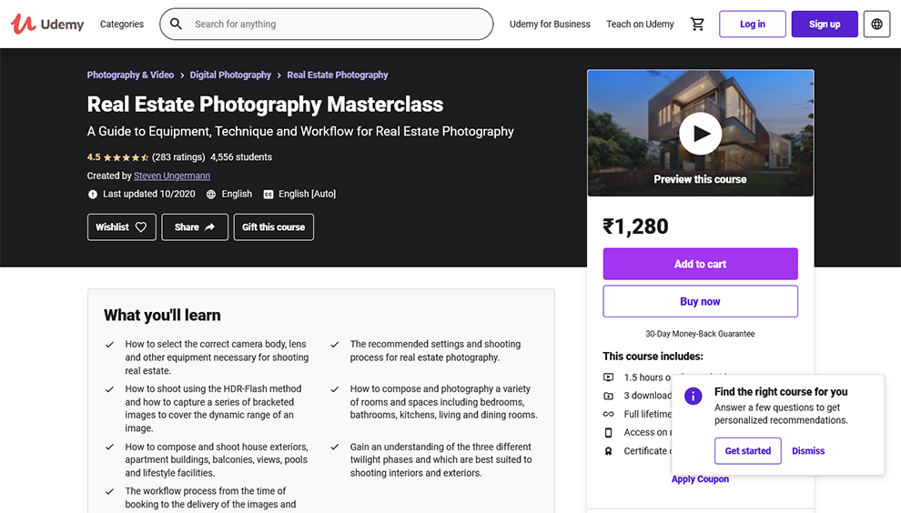 Real Estate Photography Masterclass
