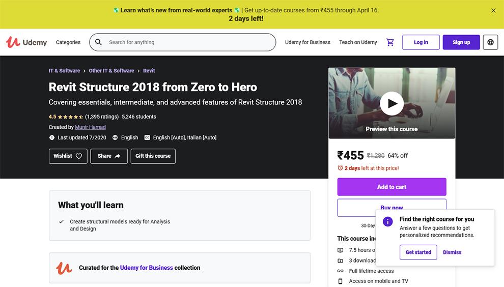 Revit Structure 2018 from Zero to Hero