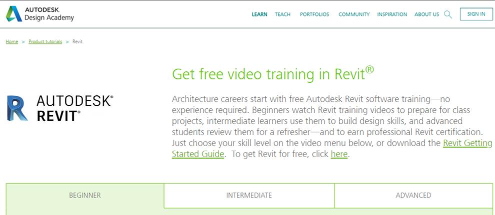 Get Free Video Training in Revit®