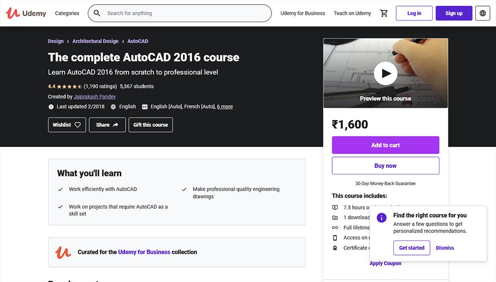 The Complete Autocad 2016 Course