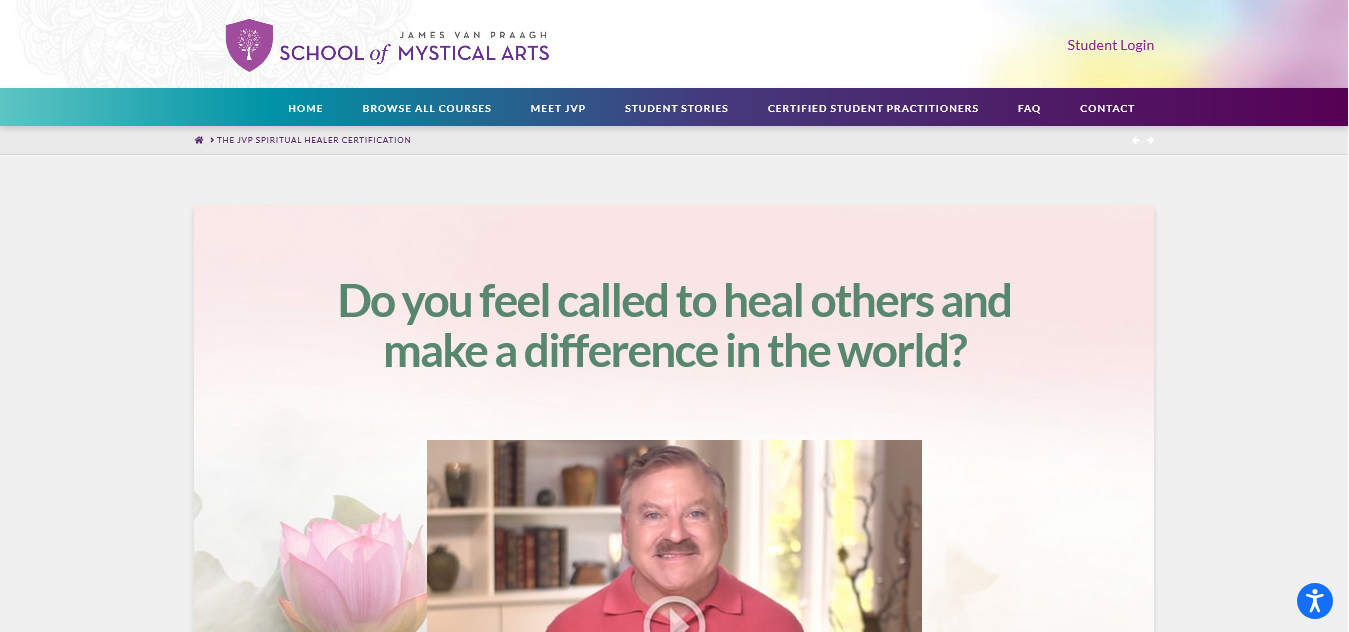 The JVP Spiritual Healer Certification
