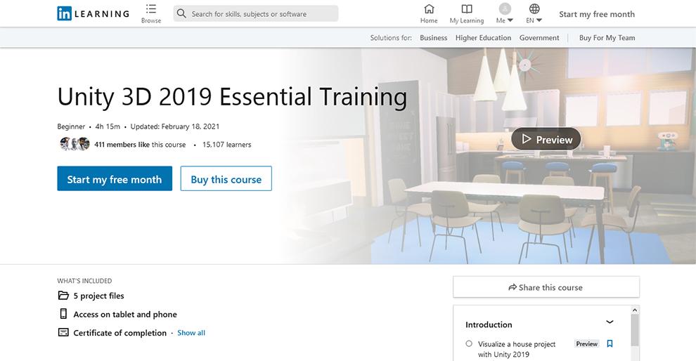 Unity 3D 2019 Essential Training