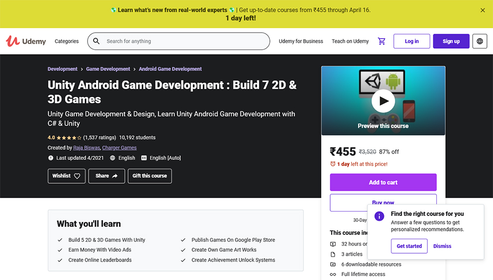 Unity Android Game Development