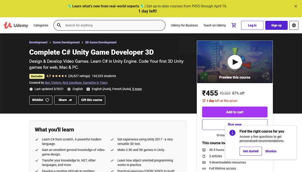 Complete C# Unity Game Developer 3D