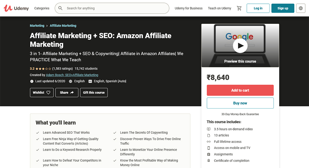 Affiliate Marketing and SEO