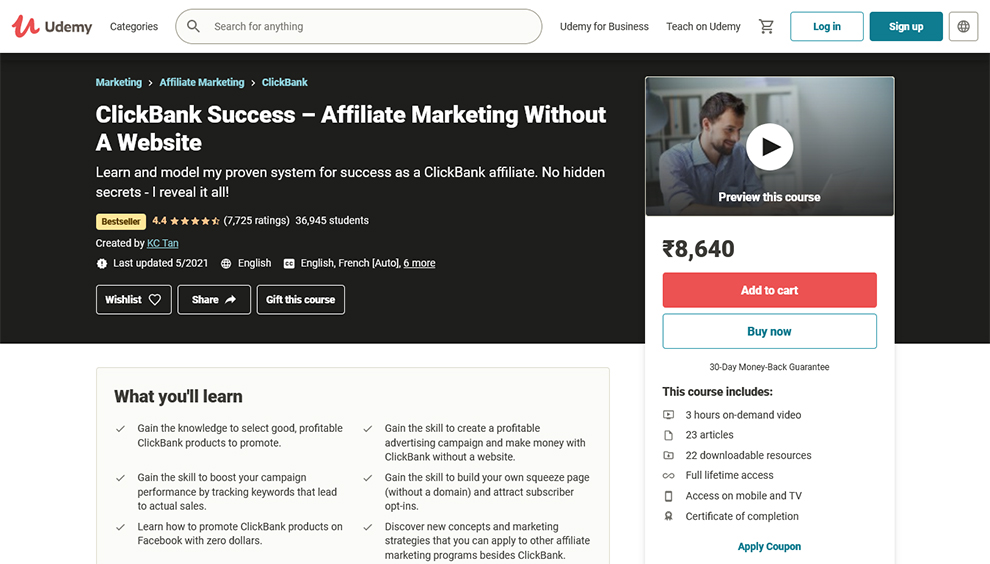 ClickBank Success–Affiliate Marketing