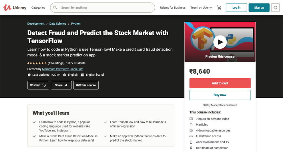 Detect Fraud and Predict the Stock Market with TensorFlow