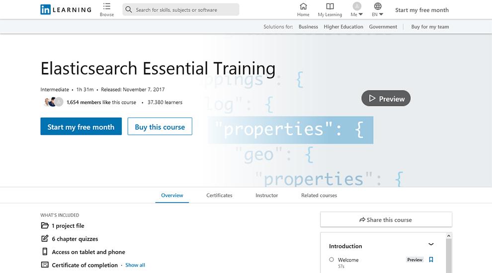 Elasticsearch Essential Training