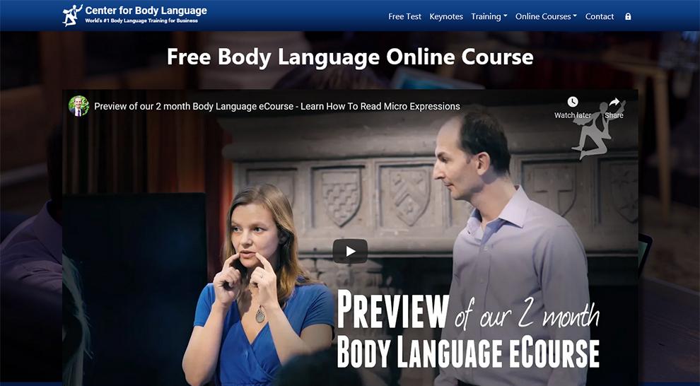 Free Body Language Online Course