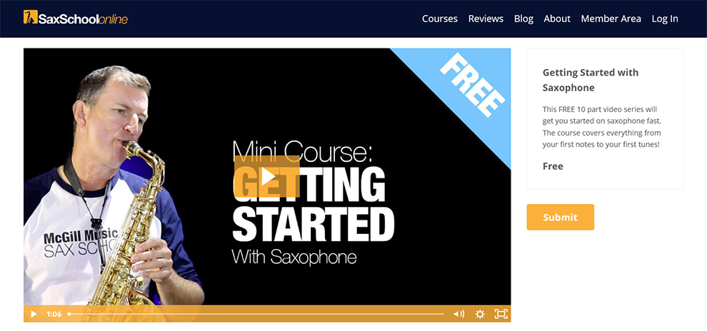 Getting Started With Saxophone