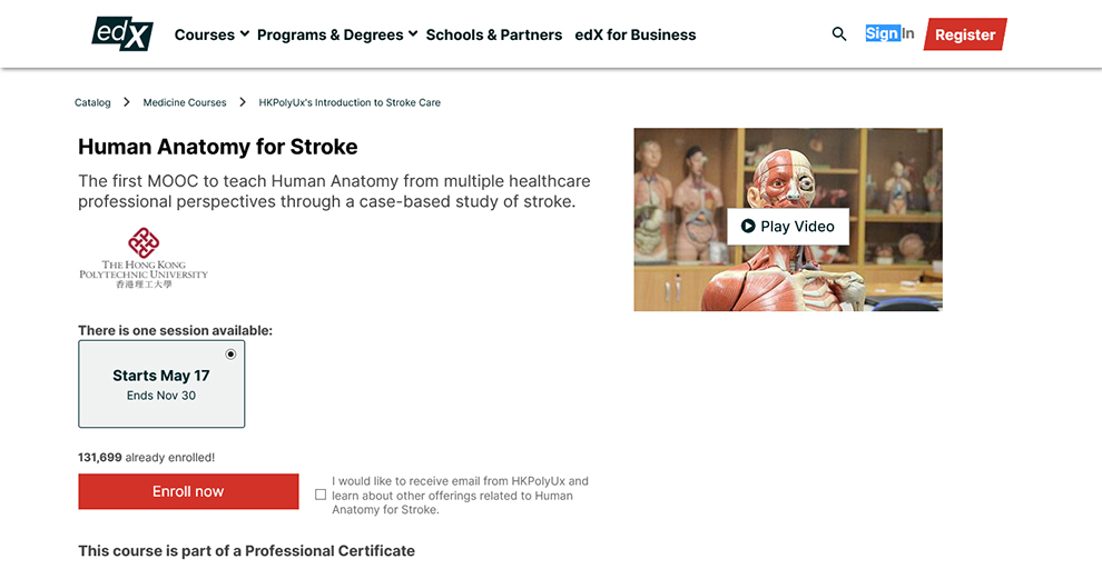 Human Anatomy For Stroke By The Hong Kong Polytechnic University
