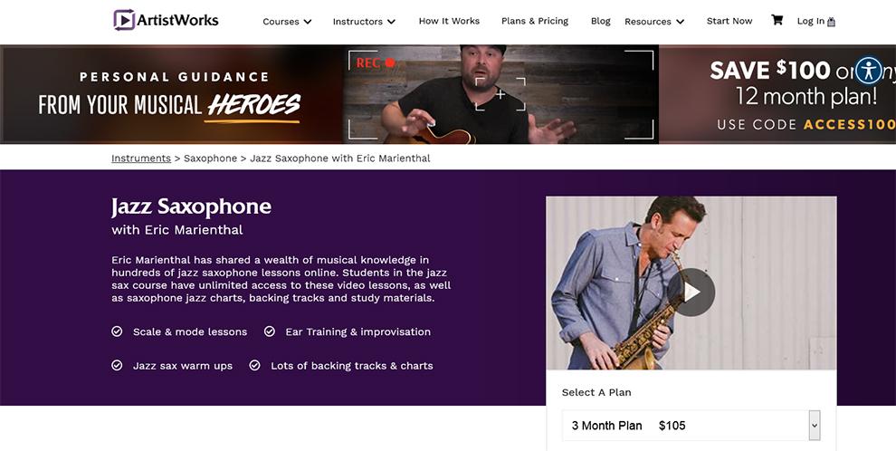 Jazz Saxophone With Eric Marienthal