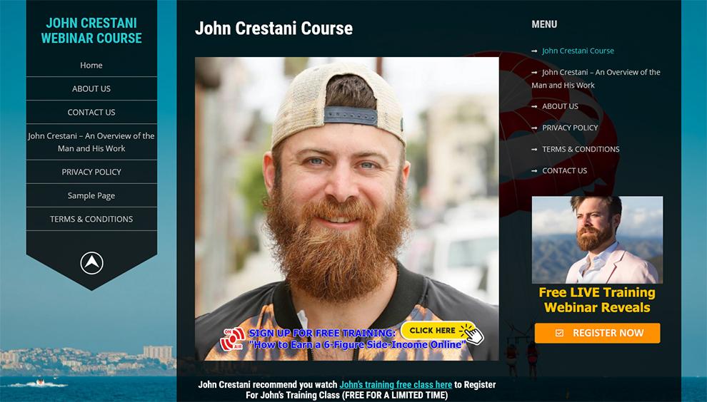 John Crestani Course On Affiliate Marketing