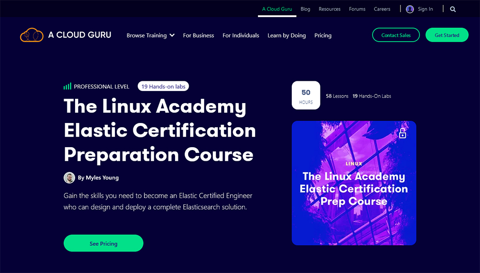 Linux Academy's Elastic Certification Preparation Course