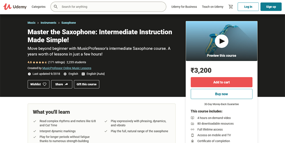 Master the Saxophone: Intermediate Instruction Made Simple
