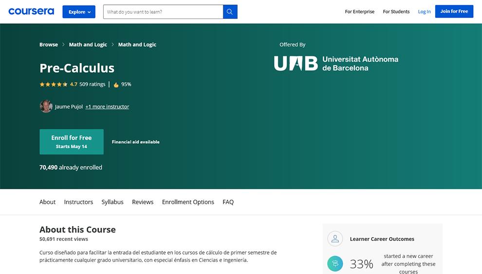 Precalculus by Universitat Autònoma de Barcelona
