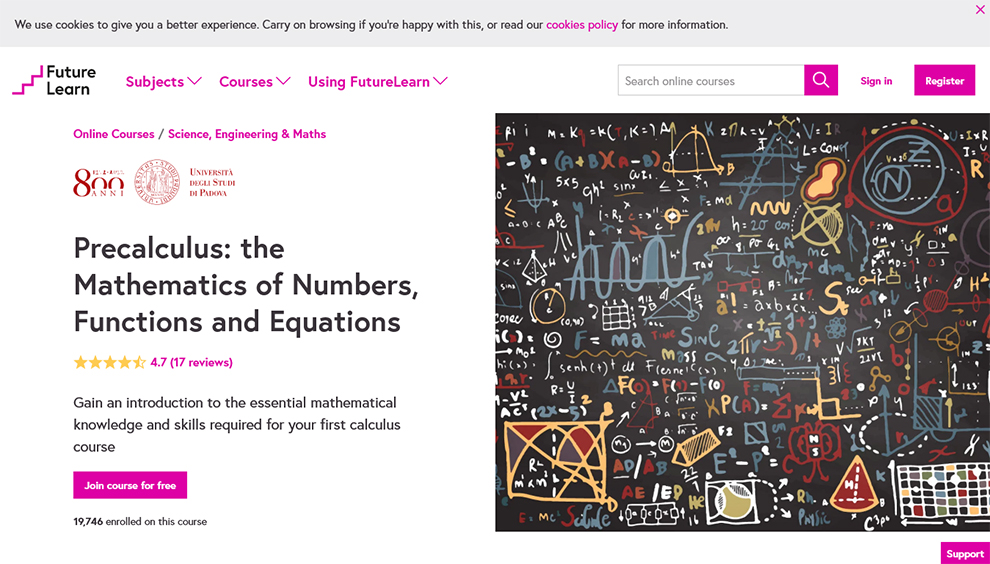 Precalculus: The Mathematics of Numbers, Functions, and Equations By University of Padova