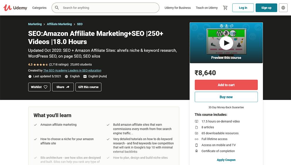 SEO Amazon Affiliate Marketing