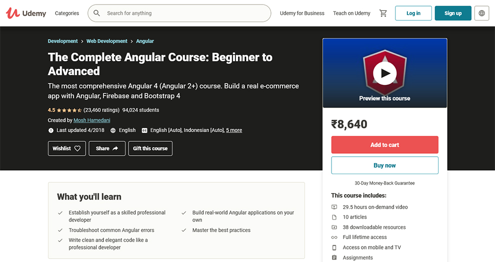 The Complete Angular Course