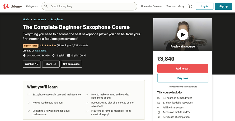 The Complete Beginner Saxophone Course