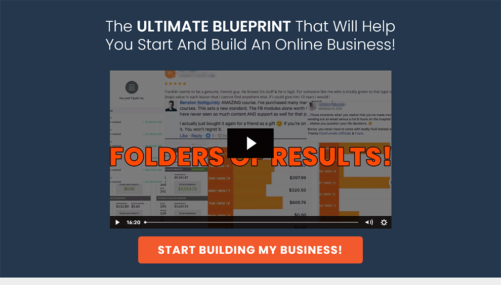 The ULTIMATE BLUEPRINT
