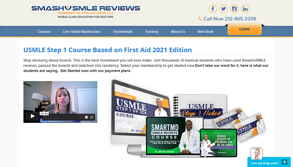 USMLE STEP 1 Course Based on First Aid 2020 Edition