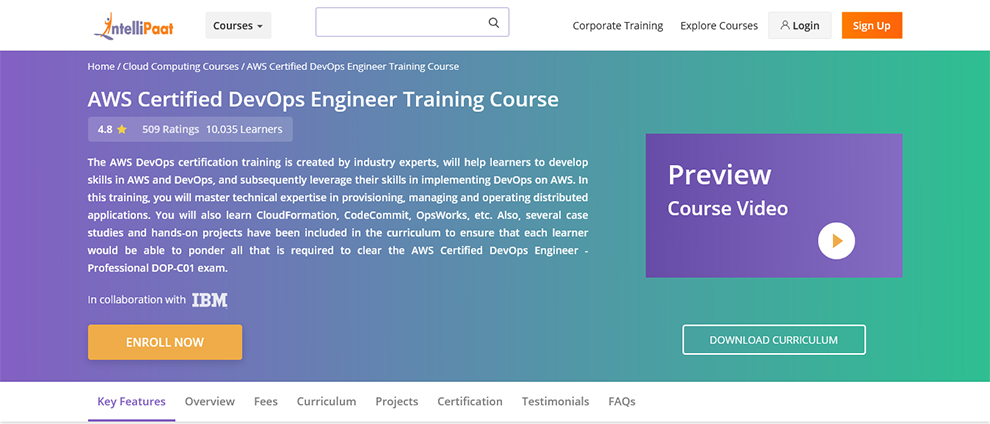 AWS Certified DevOps Engineer Training Course