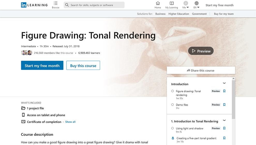 Figure Drawing: Tonal Rendering