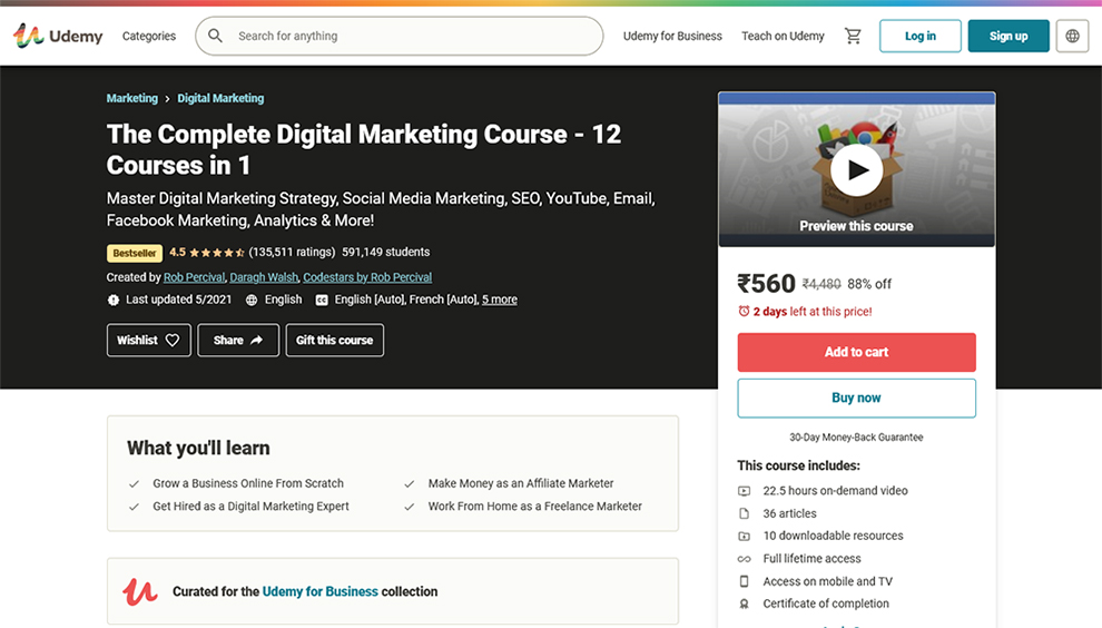 The Complete Digital Marketing 12 Courses in 1