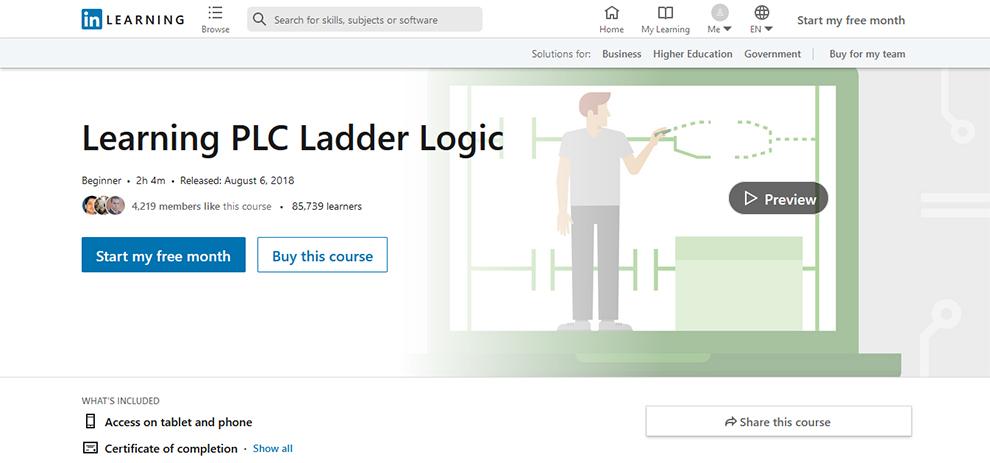 Learning PLC Ladder Logic