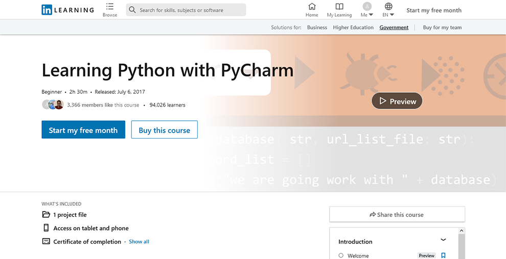 Learning Python with PyCharm